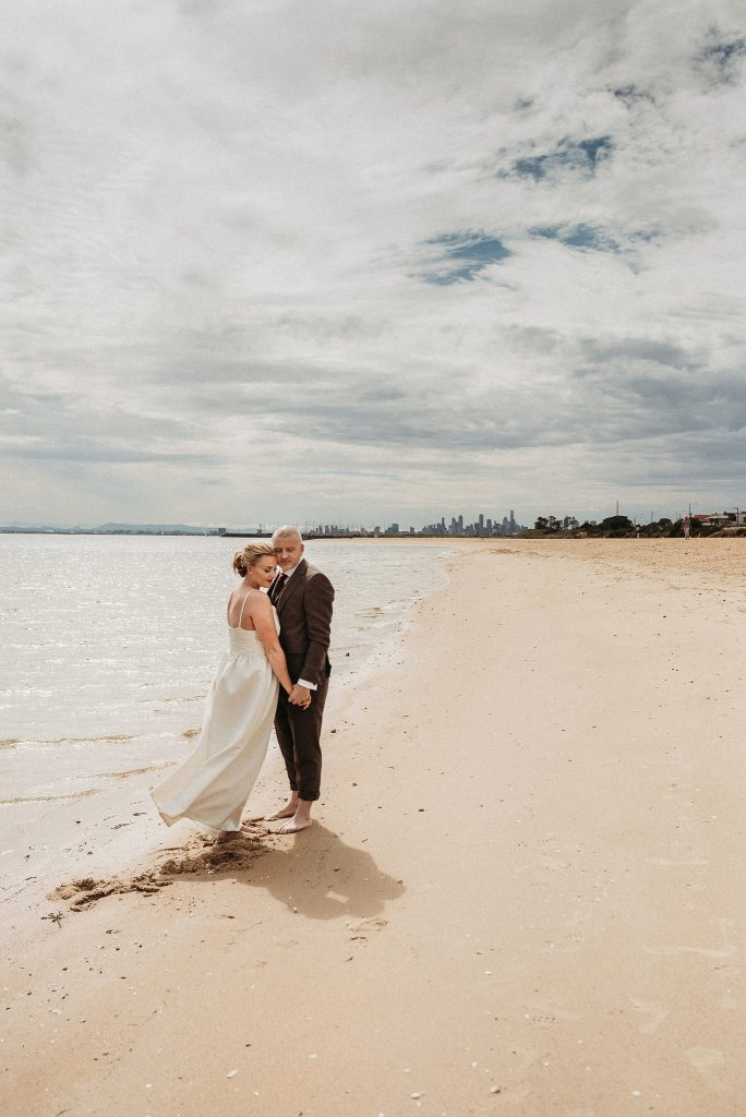 bayside real real intimate elopement portrait