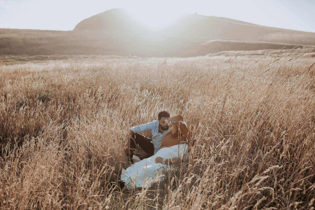 pregnancy photography during sunset