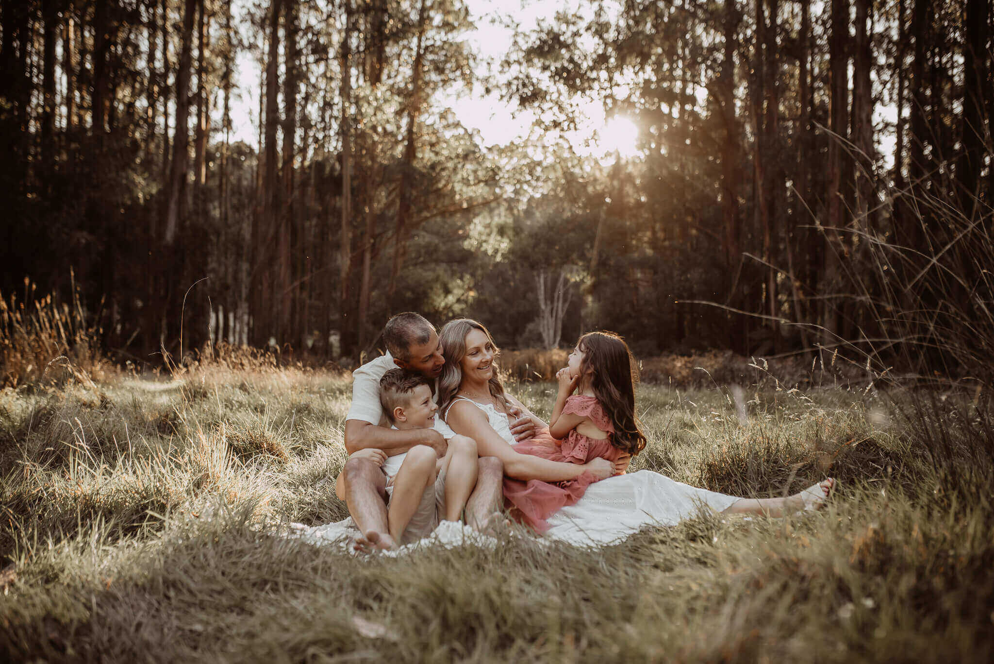 Family Photos Outdoor In The Woods